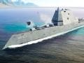 """美国最强战舰""""朱姆沃特号""""驱逐舰下水"""