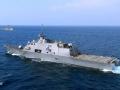 游弋在西太平洋上的美军军舰