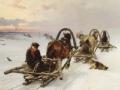北极破冰行动 冰上雪撬队