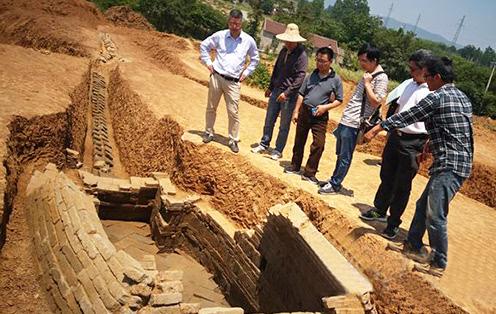 安装通气管的千年宋墓