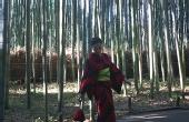 日本京都岚山竹林