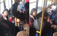 不满公交停车抓小母女俩打人