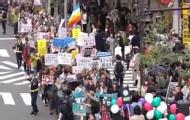 日市民游行示威抗议安倍政府
