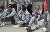 农民工讨薪工厂门前静坐