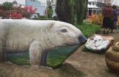 废弃石头变身动物3D画