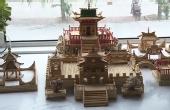 牛人用筷子牙签建起寺庙