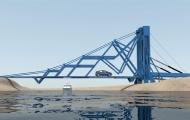 大桥竟能折叠能移动?