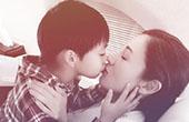 李嘉欣与儿子嘴对嘴亲吻引热议