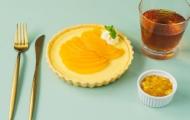 酥松香濃的黃桃乳酪派