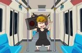 小伙抱怨地铁上乘客没素质