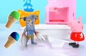 佩奇和外星人做冰激凌!