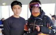 謝霆鋒日本滑雪被偶遇