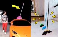 沙雕網友花式挑戰立掃把!