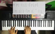 成人电子琴教学示范《送别》